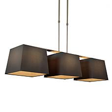 Pendelleuchte-Combi-Delux-3-Schirm-quadratisch-30cm-schwarz